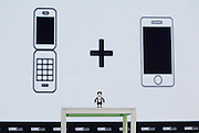 BEIJING, CHINA - APRIL 29: (CHINA OUT) A tiny cute robot that doubles as a smartphone is seen during the 2016 Global Mobile Internet Conference on April 29, 2016 in Beijing, China. RoBoHoN is Sharp\'s walking, talking, Pico-projecting Android smartphone which\'s coming to market in 2016 -- in Japan, at least. <br /> ©Exclusivepix Media