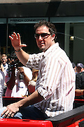 Joe Nathan at the Major League Baseball All-Stars and 49 Hall of Famers ride up Sixth Avenue in All Star-Game Red Carpet Parade Presented by Chevy on July 15, 2008