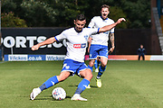 Bury Midfielder, Zeli Ismail (16) and Bury Forward and new signing, Chris Maguire (7) during the EFL Sky Bet League 1 match between Bury and Walsall at the JD Stadium, Bury, England on 5 August 2017. Photo by Mark Pollitt.