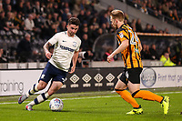 Hull City's Max Clark is confronted by Preston North End's  Sean Maguire<br /> <br /> Photographer Andrew Kearns/CameraSport<br /> <br /> The EFL Sky Bet Championship - Hull City v Preston North End - Tuesday 26th September 2017 - KC Stadium - Hull<br /> <br /> World Copyright © 2017 CameraSport. All rights reserved. 43 Linden Ave. Countesthorpe. Leicester. England. LE8 5PG - Tel: +44 (0) 116 277 4147 - admin@camerasport.com - www.camerasport.com