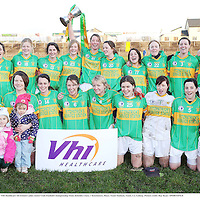 29 November 2008; The Kilmihil panel celebrate with the cup. VHI Healthcare All-Ireland Ladies Junior Club Football Championship Final, Kilmihil, Clare, v Knockmore, Mayo. Tuam Stadium, Tuam, Co. Galway. Picture credit: Ray Ryan / SPORTSFILE