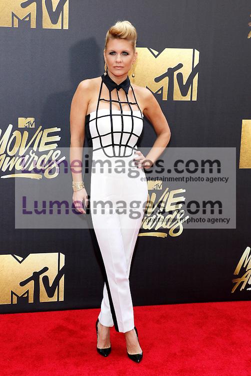 Carrie Keagan at the 2016 MTV Movie Awards held at the Warner Bros. Studios in Burbank, USA on April 9, 2016.