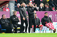 Lincoln City manager Danny Cowley, left and Nicky Cowley in the technical area<br /> <br /> Photographer Andrew Vaughan/CameraSport<br /> <br /> The EFL Sky Bet League Two - Lincoln City v Mansfield Town - Saturday 24th November 2018 - Sincil Bank - Lincoln<br /> <br /> World Copyright © 2018 CameraSport. All rights reserved. 43 Linden Ave. Countesthorpe. Leicester. England. LE8 5PG - Tel: +44 (0) 116 277 4147 - admin@camerasport.com - www.camerasport.com