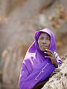 Portrait of a woman from the Nuba tribe in Nyaro village, Kordofan region, Sudan
