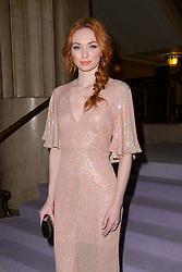 Eleanor Tomlinson on the front row during the Temperley Autumn/Winter 2017 London Fashion Week show at Banking Hall, London. PRESS ASSOCIATION Photo. Picture date: Sunday February 19th, 2017. Photo credit should read: Matt Crossick/PA Wire.