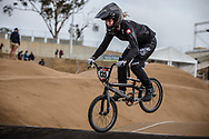 #135 (DONZALLAZ Eloise) SUI at Round 3 of the 2020 UCI BMX Supercross World Cup in Bathurst, Australia.