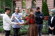 ROTTERDAM, 28-09-2021, Stadhuis<br /> <br /> Koningin Maxima bij een werkbezoek aan Stichting Halt in het stadhuis van Rotterdam.