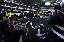 Wayne Rooney of Derby County runs out past a group of photographers to warm up ahead of his debut- Mandatory by-line: Robbie Stephenson/JMP - 02/01/2020 - FOOTBALL - Pride Park Stadium - Derby, England - Derby County v Barnsley - Sky Bet Championship