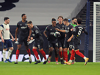 Football - 2020 / 2021 EFL Carabao League Cup - Semi-Final - Tottenham Hotspur vs Brentford - Tottenham Hotspur Stadium<br /> <br /> Ivan Toney of Brentford grabs the ball after scoring, only to have the goal disallowed by VAR<br /> <br /> COLORSPORT/ANDREW COWIE