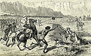 Arab Skirmish From the book ' Land of Moab : travels and discoveries on the east side of the Dead Sea and the Jordan ' by Tristram, H. B. (Henry Baker), 1822-1906 Published in London in 1873 by  J. Murray