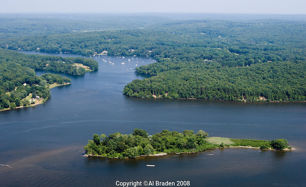 Brockway Island and entrance to Eightmile River, Hamburg Cove off the Connecticut River, Lyme, CT.