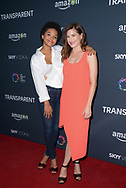 KIERSEY CLEMONS (L) and KATHRYN HAHN at the premiere of Amazon's 'Transparent' season two at the Pacific Design Center in Los Angeles, California