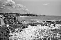 Shoreline along Cape Coast Castle Exterior