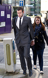 © Licensed to London News Pictures. 07/02/2013. London, UK. Bournemouth football player Steve Cook, 21, is seen arriving at the Old Bailey in London today (07/02/13) where he and three other players, from Brighton and Hove Albion, are facing charges of sexual assault. Photo credit: Matt Cetti-Roberts/LNP