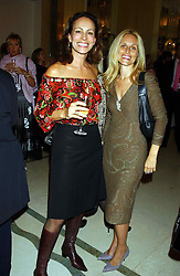 Left to right, ANDREA DELLAL and PIA GETTY sister of Princess Marie Chantal of Greece  at a lunch and fashion show by Bruce Oldfield in aid of Barnados and held at Claridges, Brook Street, London W1 on 22nd September 2004.<br /><br />NON EXCLUSIVE - WORLD RIGHTS