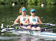 Henley Royal Regatta, Henley on Thames, Oxfordshire, 28 June - 2 July 2017.  Friday  10:17:27   30/06/2017  [Mandatory Credit/Intersport Images]<br /> <br /> Rowing, Henley Reach, Henley Royal Regatta.<br /> <br /> The Women's Double Sculls<br />  C.B. Bove & L.T. Tarantola (Club France, France)