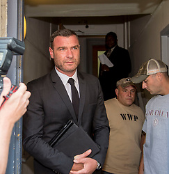 Actor, Liev Schreiber appears at court in Nyack, New York on harassment charges stemming from an interaction with photographer, Sherwood Martinelli. The judge would not drop the charges and they have to return at a later date. **NO NEW YORK DAILY NEWS, NO NEW YORK TIMES, NO NEWSDAY**. 14 Aug 2018 Pictured: Liev Schreiber. Photo credit: Richard Harbus / MEGA TheMegaAgency.com +1 888 505 6342