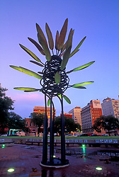 Stock photo of James Surls sculpture, Points of View, downtown Houston Market Square