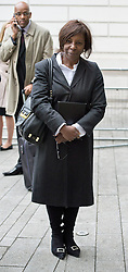 © London News Pictures. 24/06/2013. London, UK.  Judge Constance Briscoe arriving at Westminster Magistrates Court in London where she faces charges of perverting the course of justice. The charges relate to allegedly inaccurate statements and an allegedly altered witness statement during a police investigation into Chris Huhne and Vicky Pryce's driving offence. Photo credit should read: Ben Cawthra/LNP