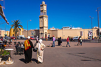 Maroc, Casablanca, place des Nations Unis, // Morocco, Casablanca, United Nation (Nation Unis) square