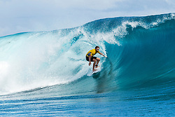 Aug 12, 2017 - Teahupo'o, French Polynesia, Tahiti - Matt Wilkinson of Australia, current No.1 on the Jeep Leaderboard advanced to Round Four of the Billabong Pro Tahiti after defeating rookie Ethan Ewing of Australia in Heat 6 of Round Three. (Credit Image: © Kelly Cestari/World Surf League via ZUMA Wire)