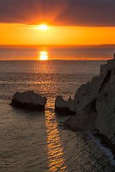 The Needles headland, Isle of Wight, England, UK. 14/05/14. Photo by Andrew Tallon