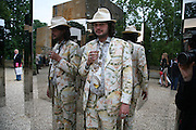 VIKTOR WYND NEXT TO JEPPE HEIN'S 'SIMPLIFIED MIRROR LABRINTH 1, 2008. , The Artists' Playground. Reconstruction 3: Contemporary Art at Sudeley Castle, 2008 In partnership with Phillips de Pury & Company and supported by Chanel. 31 May 2008. *** Local Caption *** -DO NOT ARCHIVE-© Copyright Photograph by Dafydd Jones. 248 Clapham Rd. London SW9 0PZ. Tel 0207 820 0771. www.dafjones.com.