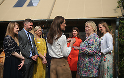 The Duchess of Cambridge talking to Sue Biggs, Director General of the Royal Horticultural Society during her visit to the RHS Chelsea Flower Show at the Royal Hospital Chelsea, London.