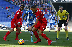 January 20, 2018 - Barcelona, Spain - Mercado during the La Liga match between RCD Espanyol and Sevilla FC played in the RCDEstadium, in Barcelona, on January 20, 2018. Photo: Joan Valls/Urbanandsport/Nurphoto  (Credit Image: © Joan Valls/NurPhoto via ZUMA Press)