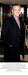 Footballer GARY LINEKER at a reception in London on 11th March 2003.PHW 38