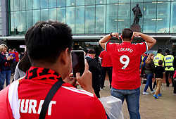 Fans take pictures outside Old Trafford - Mandatory by-line: Matt McNulty/JMP - 17/09/2017 - FOOTBALL - Old Trafford - Manchester, England - Manchester United v Everton - Premier League