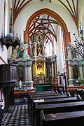 Interior of the Church of St. Anne, Vilnius, Lithuania
