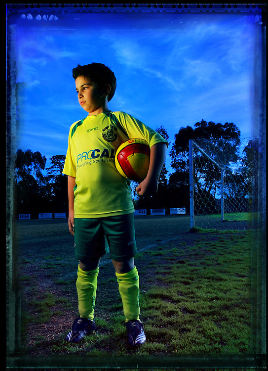 9 year old Soccer player Nikolas Thyssen Pic By Craig Sillitoe 07/08/2008 . melbourne photographers, commercial photographers, industrial photographers, corporate photographer, architectural photographers, This photograph can be used for non commercial uses with attribution. Credit: Craig Sillitoe Photography / http://www.csillitoe.com<br /> <br /> It is protected under the Creative Commons Attribution-NonCommercial-ShareAlike 4.0 International License. To view a copy of this license, visit http://creativecommons.org/licenses/by-nc-sa/4.0/.