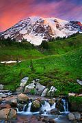 Mount Rainier and Edith Creek, Washington, USA