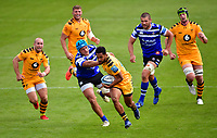 Rugby Union - 2019 / 2020 Gallagher Premiership - Bath vs Wasps<br /> <br /> Wasps' Zach Kibirige evades the tackle of Bath Rugby's Zach Mercer, at the Recreation Ground.<br /> <br /> COLORSPORT/ASHLEY WESTERN