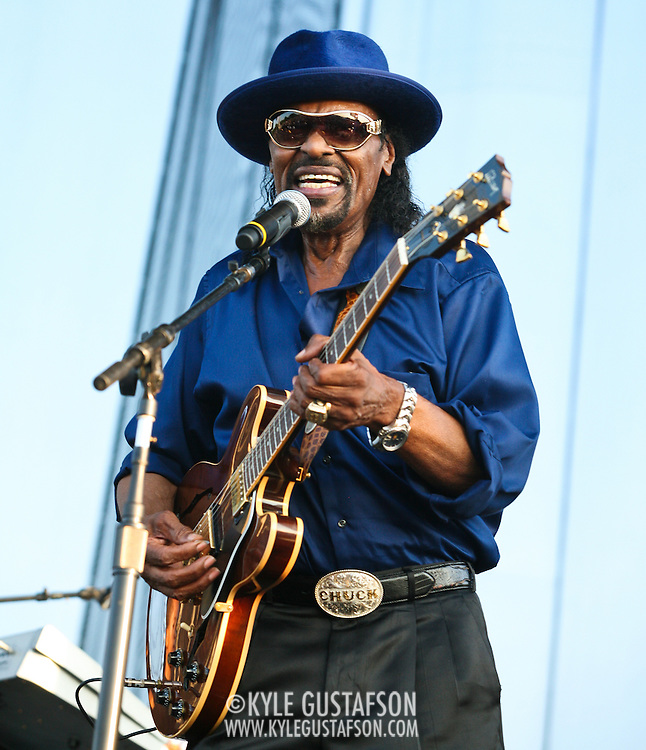 "WASHINGTON, DC -  August 15th, 2009 -  ""Godfather of Go-Go"" Chuck Brown performs at the Stone Soul Picnic at RFK Stadium in Washington, D.C. (Photo by Kyle Gustafson)"
