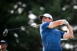 August 5, 2018 - Akron, OH, U.S. - AKRON, OH - AUGUST 05:   Rory McIlroy (NIR) plays his shot from the 17th tee during the final round of the World Golf Championships -Bridgestone Invitational on August 5, 2018 at the Firestone Country Club South Course in Akron, Ohio. (Photo by Shelley Lipton/Icon Sportswire) (Credit Image: © Shelley Lipton/Icon SMI via ZUMA Press)