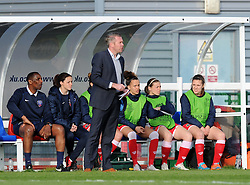 Bristol Academy manager Willie Kirk calls instructions to his players - Photo mandatory by-line: Paul Knight/JMP - Mobile: 07966 386802 - 09/05/2015 - SPORT - Football - Bristol - Stoke Gifford Stadium - Bristol Academy Women v Arsenal Ladies FC - FA Women's Super League