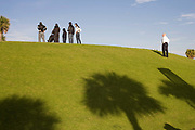 People relaxing and chilling out in South Point Park South Beach Miami which was redeveloped and reopened in 2009