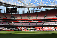 Football - 2020 /2021 Premier League - Arsenal v Fulham - Emirate Stadium<br /> <br /> Players observe a 2 minute silence before the game in memory of Prince Philip, The Duke of Edinburgh.<br /> <br /> COLORSPORT