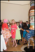 GRAYSON PERRY; JILL WICKERSHAM; YINKA SHONIBARE'S WORK  , Royal Academy of Arts Summer Exhibition 2014. Piccadilly. London. 4 June 2014.