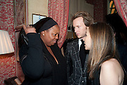 PAT MCGRATH, Graydon Carter hosts a diner for Tom Ford to celebrate the London premiere of ' A Single Man' Harry's Bar. South Audley St. London. 1 February 2010
