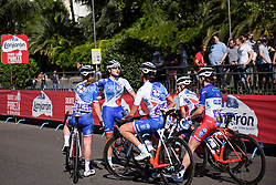 Roxane Fournier talks her teammates through the final sprint at Madrid Challenge by la Vuelta 2017 - a 87 km road race on September 10, 2017, in Madrid, Spain. (Photo by Sean Robinson/Velofocus.com)