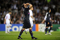 FOOTBALL - UEFA CHAMPIONS LEAGUE 2009/2010 - 1/2 FINAL - 2ND LEG - OLYMPIQUE LYONNAIS v BAYERN MUNCHEN - 27/04/2010 - PHOTO JEAN MARIE HERVIO / DPPI - DESPAIR LISANDRO LOPEZ (OL)