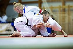 Tina Trstenjak vs Nika Koren (red belt) during Judo National Championships 2021 in Balon Hall, Nova Gorica, 20 March 2021, Slovenia. Photo by Grega Valancic / Sportida