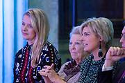 Uitreiking van de Prins Claus Prijs 2017 aan de Braziliaanse filmmaker en rechtenactivist Vincent Carelli en de Chinese ontwerper nieuwe media en milieuactivist Ma Jun in het Koninklijk Paleis op de Dam.<br /> <br /> Presentation of the Prince Claus Award 2017 to the Brazilian filmmaker and rights activist Vincent Carelli and the Chinese designer new media and environmental activist Ma Jun at the Royal Palace on Dam Square.<br /> <br /> Op de foto / On the photo:  Prinses Mabel, Prinses Beatrix, Prinses Laurentien / Princess Mabel, Princess Beatrix, Princess Laurentien