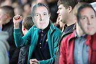 Cardiff fans wear Malky Mackay face masks. NPower championship, Cardiff city v Charlton Athletic at the Cardiff city stadium in Cardiff, South Wales on Tuesday 16th April 2013. pic by Andrew Orchard,  Andrew Orchard sports photography,