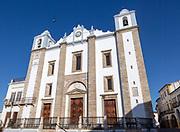 Sixteenth century building of Church of Santo Antão dating from 1557, Giraldo Square, Praça do Giraldo, Evora, Alto Alentejo, Portugal southern Europe