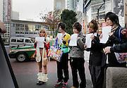 young aspiring fashion models preparing for a test shoot Japan Tokyo