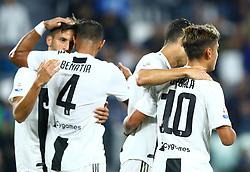 September 26, 2018 - Turin, Italy - Juventus v Bologna - Serie A .Cristiano Ronaldo celebrates with Paulo Dybala of Juventus at Allianz Stadium in Turin, Italy on September 26, 2018. (Credit Image: © Matteo Ciambelli/NurPhoto/ZUMA Press)